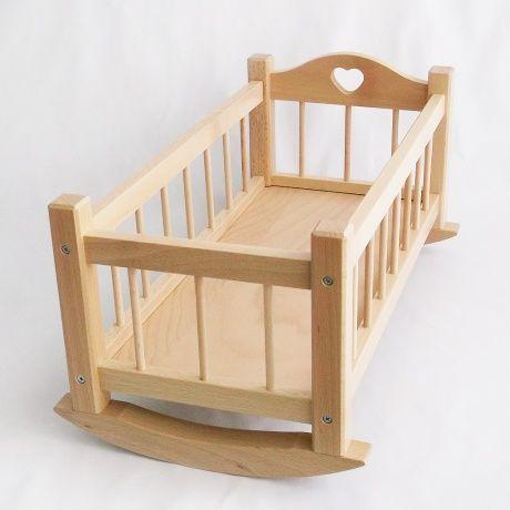 Cuna balancín atrezzo para fotos con bebés. Cuna en madera natural ...