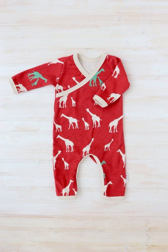 ba2e6d8c37b Organic Baby Take Home Outfit - Boy Going Home Outfit - Giraffe Baby Romper  - Baby Boy Going Home Se