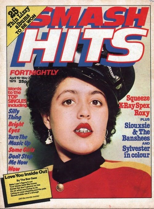 Poly Styrene on the front of Smash Hits.