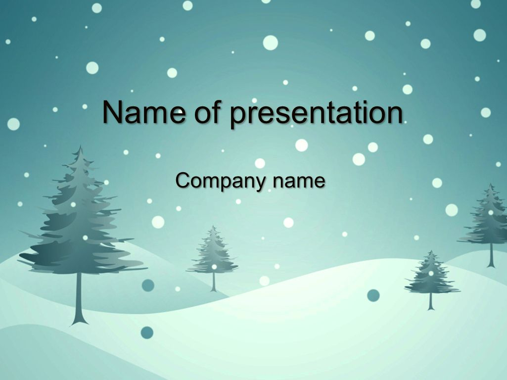 Blue Winter Powerpoint Template Templates Templates Christmas