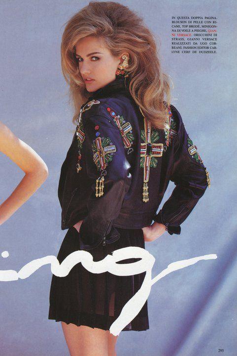 Karen by Patrick Demarchelier, 1991- appliqué/embellishment placement