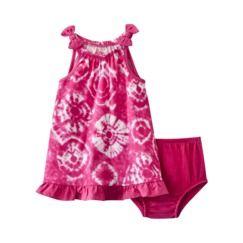 0e447f5b6 Circo® Newborn Girls Tie Dye Sleeveless Dress - Pink