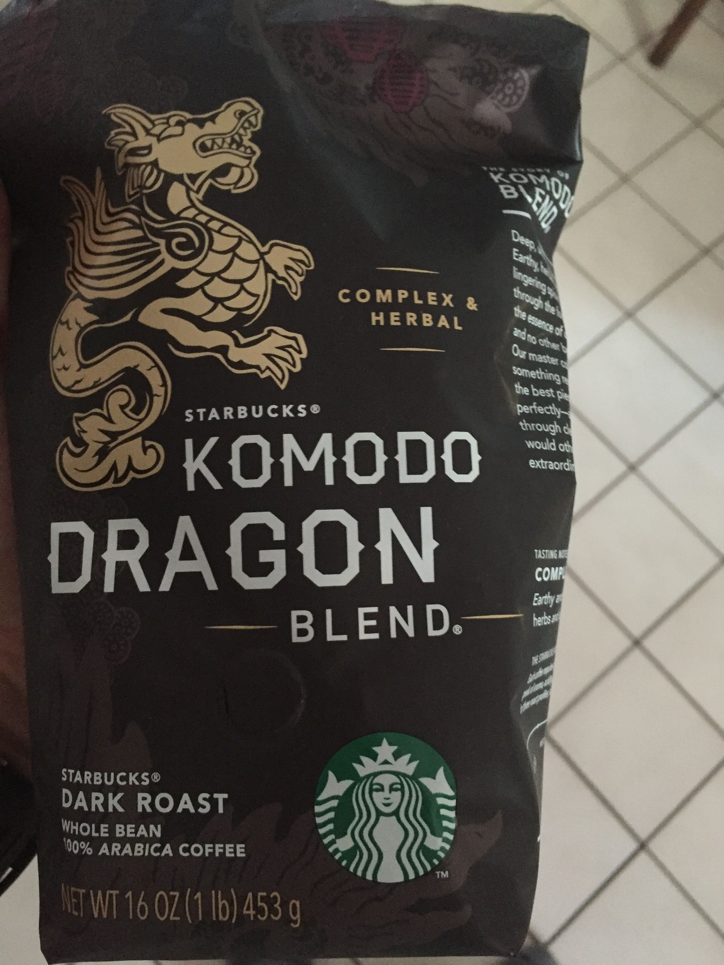 Komodo Dragon Coffee : komodo, dragon, coffee, Komodo, Dragon, Roast, Starbucks, Whole, Coffee, Beans,, Coffee,