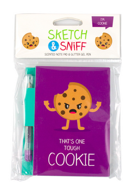 Scented Note Pad /& Glitter Pen Smencils Cookie Sketch /& Sniff Pad Cute Gift