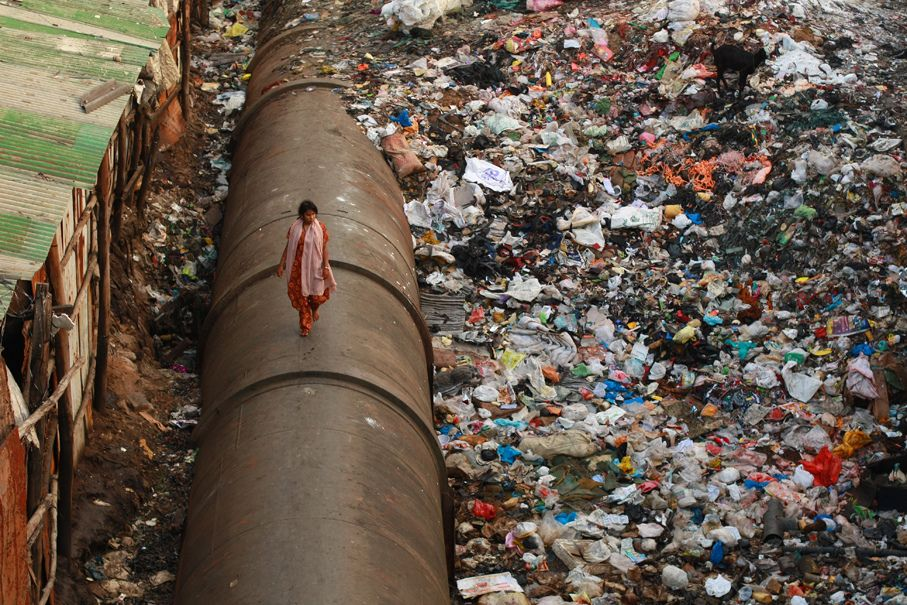 Slum like Dharavi in Mumbai is an example of government