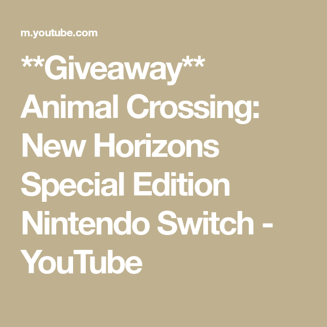 7f325175a810907039e14d56a292c3b1 - Nintendo Switch Animal Crossing Giveaway