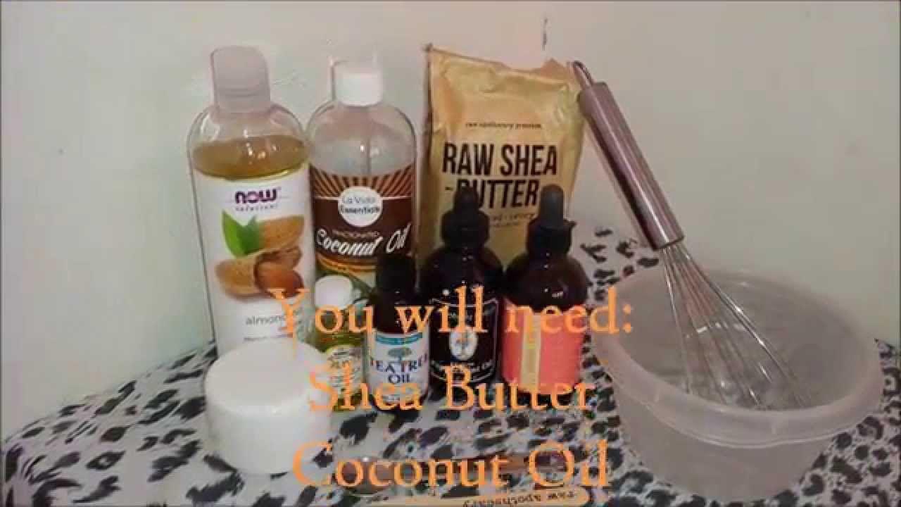 Diy shea butter moisturizing hair cream shea butter