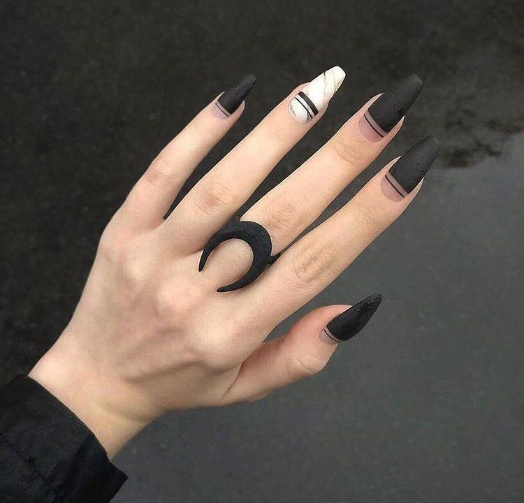 Pin De Mixelle Chux En Beauty Nails Uñas Mate Uñas Negras