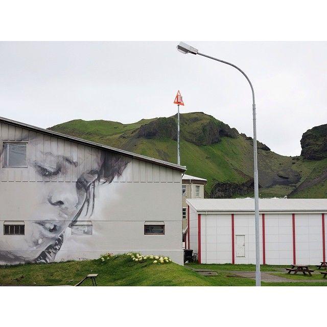 guidovanhelten, artist    Progress in Heimaey, Vestmannaeyjar... #streetart #graffiti #art #vestmannaeyjar #iceland #westmanislands