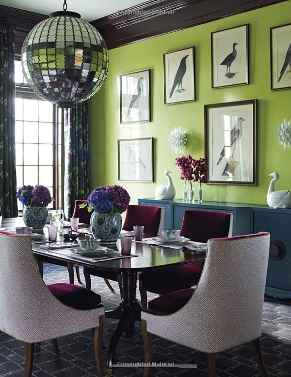 Pin By Fleababe On Color Green Rooms I Love Green Dining Room Dining Room Colors Dining Room Design