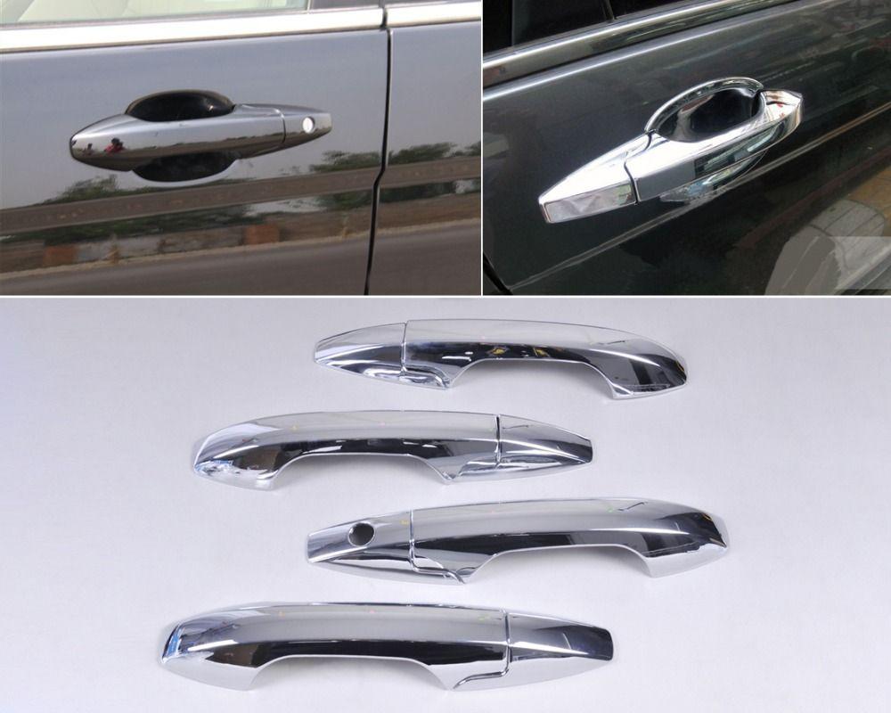 Car Exterior Decorative Moldings Chrome Door Handle Cover Trim For Honda Crv Cr V 2007 2008 2009 2010 2011 Stylish Accessories Car Car Door Auto