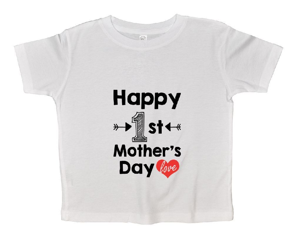 Happy 1st Mother's Day Love Funny Kids Onesie