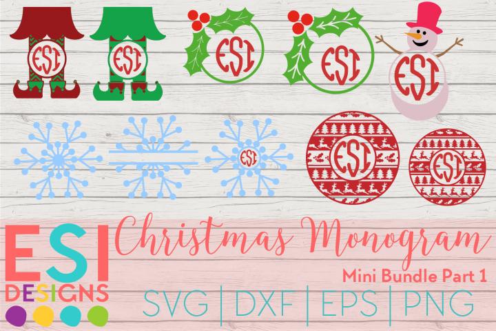 Christmas Monogram Design Mini Bundle Part 1 Svg Dxf Eps Png Esi Designs Crafters Svgs Christmas Monogram Christmas Projects Diy Monogram Design