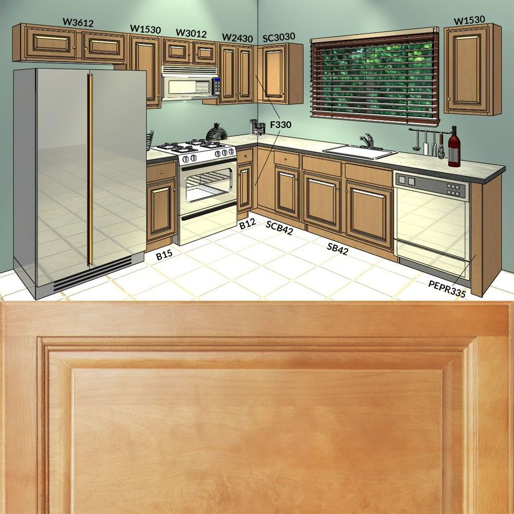 10x10 Kitchen Cabinets Group Sale Richmond Series Cozinha