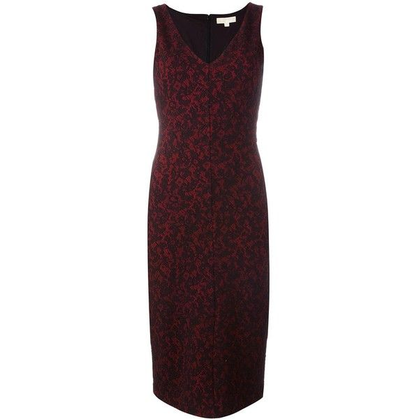 Michael Michael Kors baroque jacquard fitted dress (1,765 HKD) ❤ liked on Polyvore featuring dresses, black, baroque dress, jacquard dress, baroque print dress, michael michael kors and tight dresses