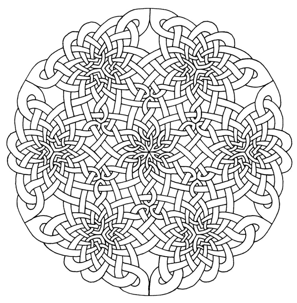 Celtic Mandala Coloring Pages Mandala Coloring Pages Celtic Mandala Celtic Coloring