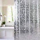 3D Shower Curtain Clear Plastic EVA Diamond Cube Semi Transparent Waterproof