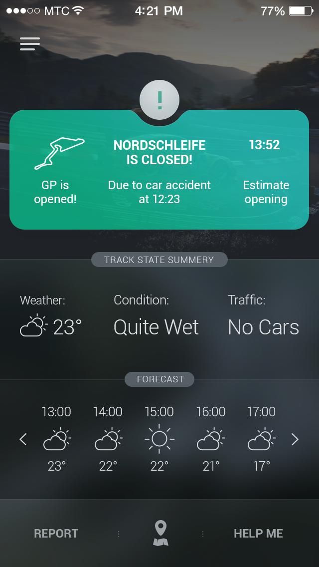 Racing Track App by Dmytro Shvedun