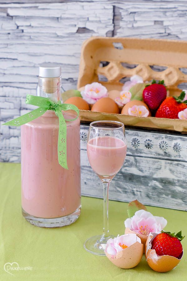 Photo of Strawberry eggnog with white chocolate