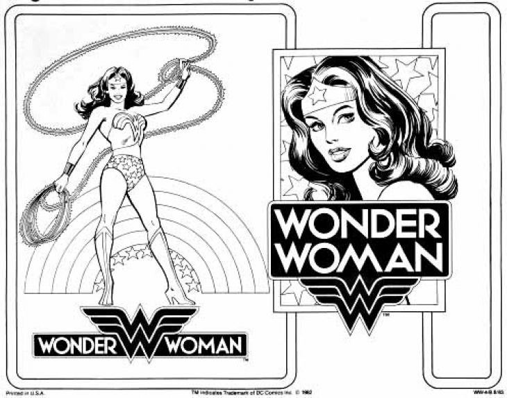 Free Printable Coloring Page Of Wonder Woman