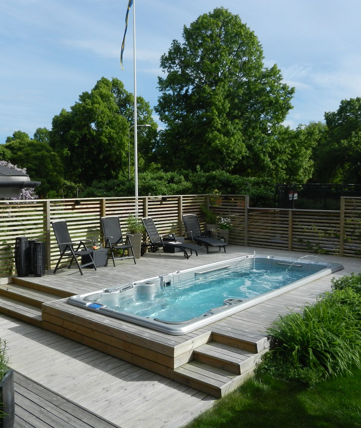 Outdoor Spa, Above Ground Pool Decks, Small