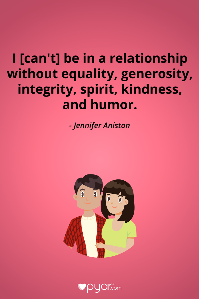 I Cant Be In A Relationship Without Equality Generosity Integrity