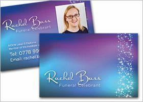 Rachel Bass Funeral Celebrant Business Card Design Business Card Design Pinterest
