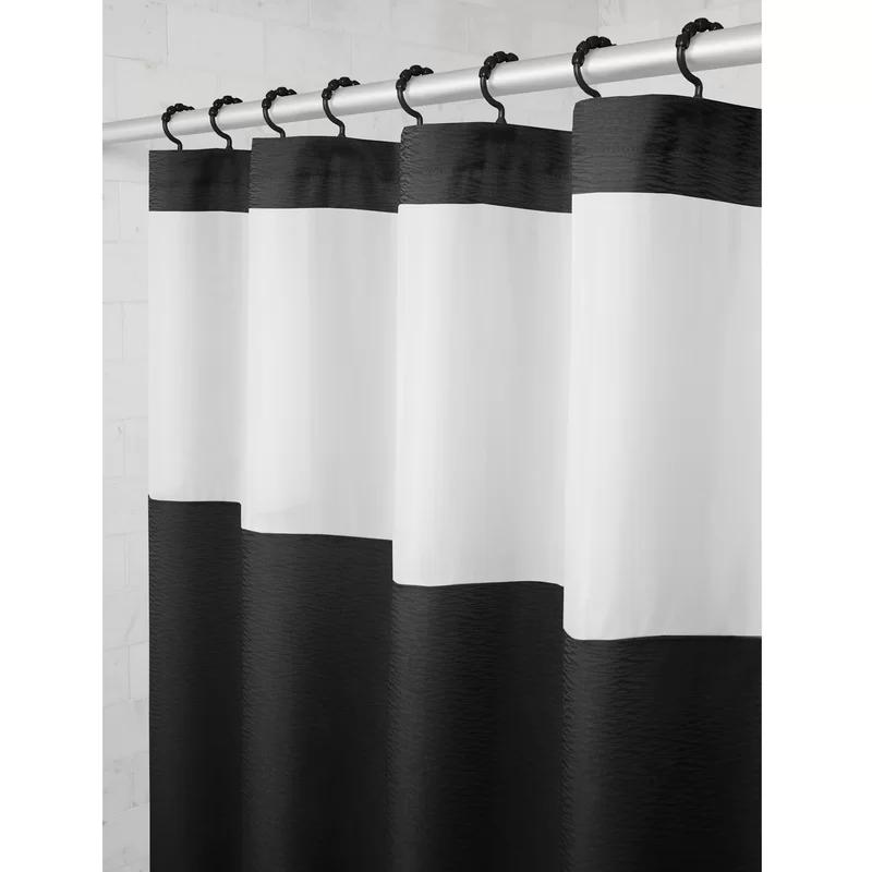 Wigginton Striped Single Shower Curtain Hooks Fabric Shower Curtains Shower Curtain Hooks Curtains