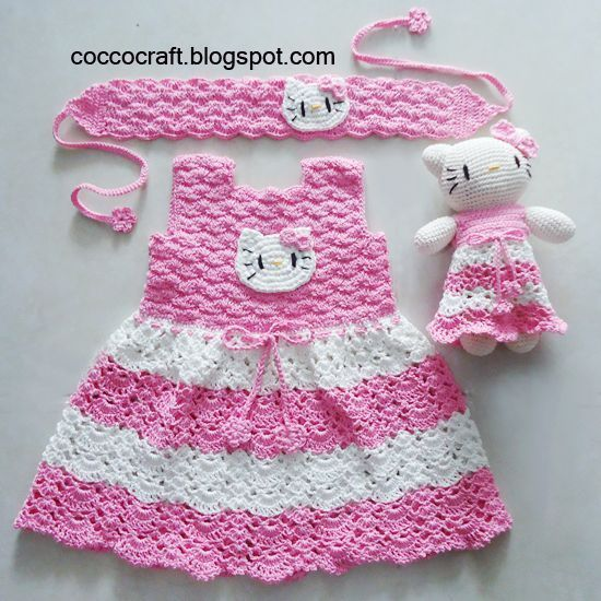 Hello Kitty Dress Matching Amigurumi-FREE PATTERN | baby patterns ...