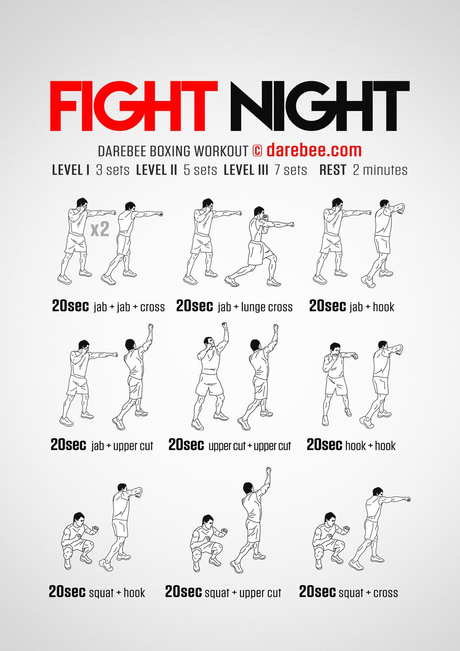 Très Fight Night Workout | Exercise | Pinterest | Boxe, Exercices et Boxeur DB56