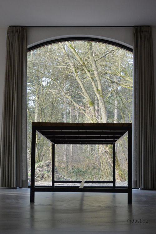 Afbeeldingsresultaat voor rolgordijnen gebogen raam | Gordijnen ...