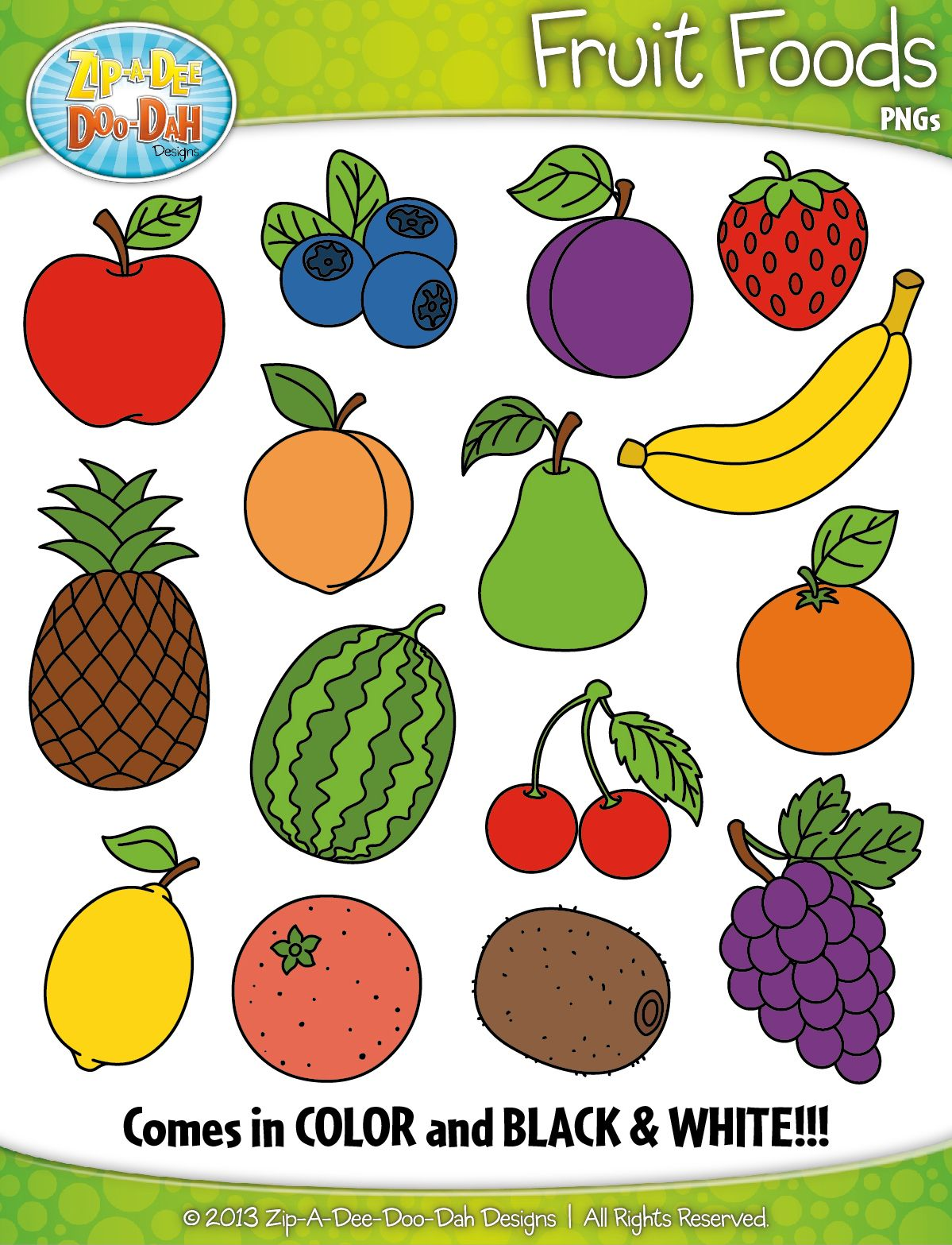Fruit Foods Clipart Zip A Dee Doo Dah Designs