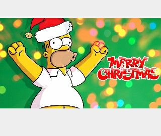 Homero In 2019 The Simpsons Merry Christmas Wallpaper