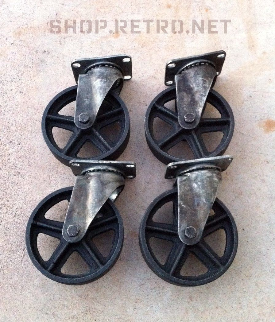 industrial furniture wheels. Antique Caster Wheels 5 Inch Cast Iron Vintage Industrial Wheel. $210.00, Via Etsy. Furniture