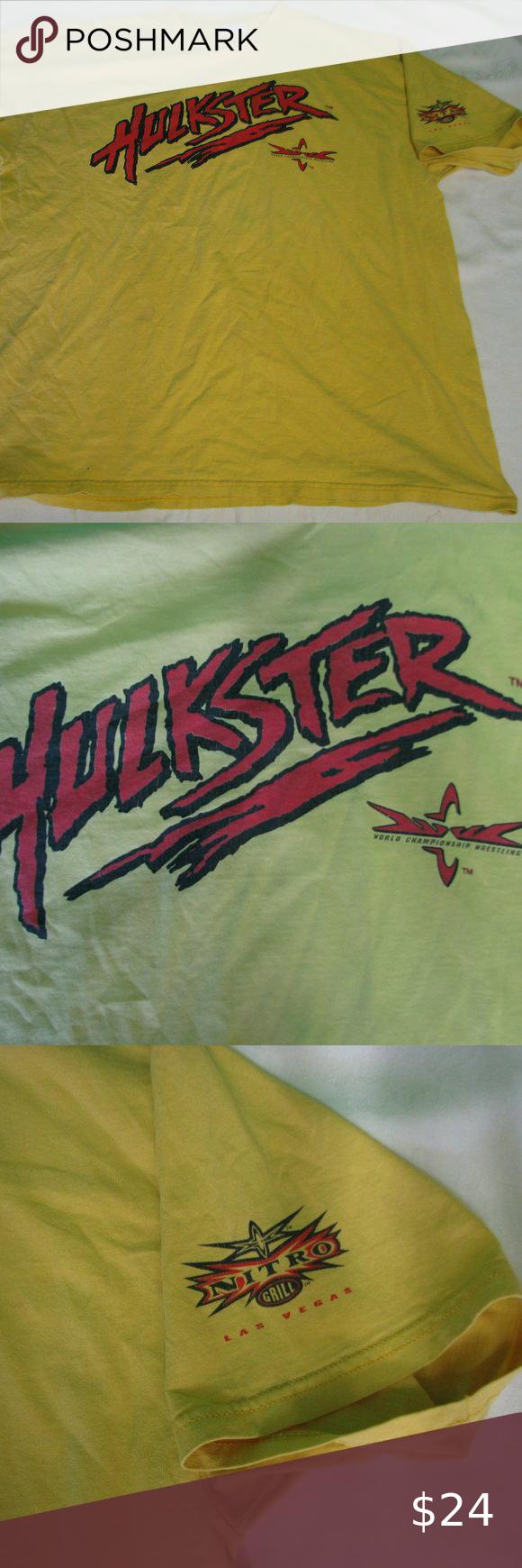 Vintage Wcw Hulkster Nitro Grill T Shirt Shirts T Shirt Wcw