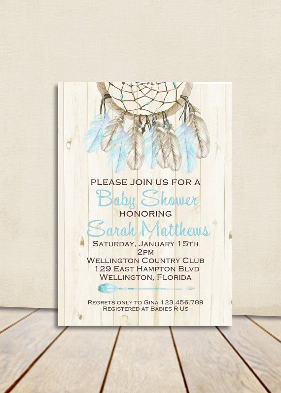 Hey I Found This Really Awesome Etsy Listing At Wwwetsy New Dream Catcher Baby Shower Invitations