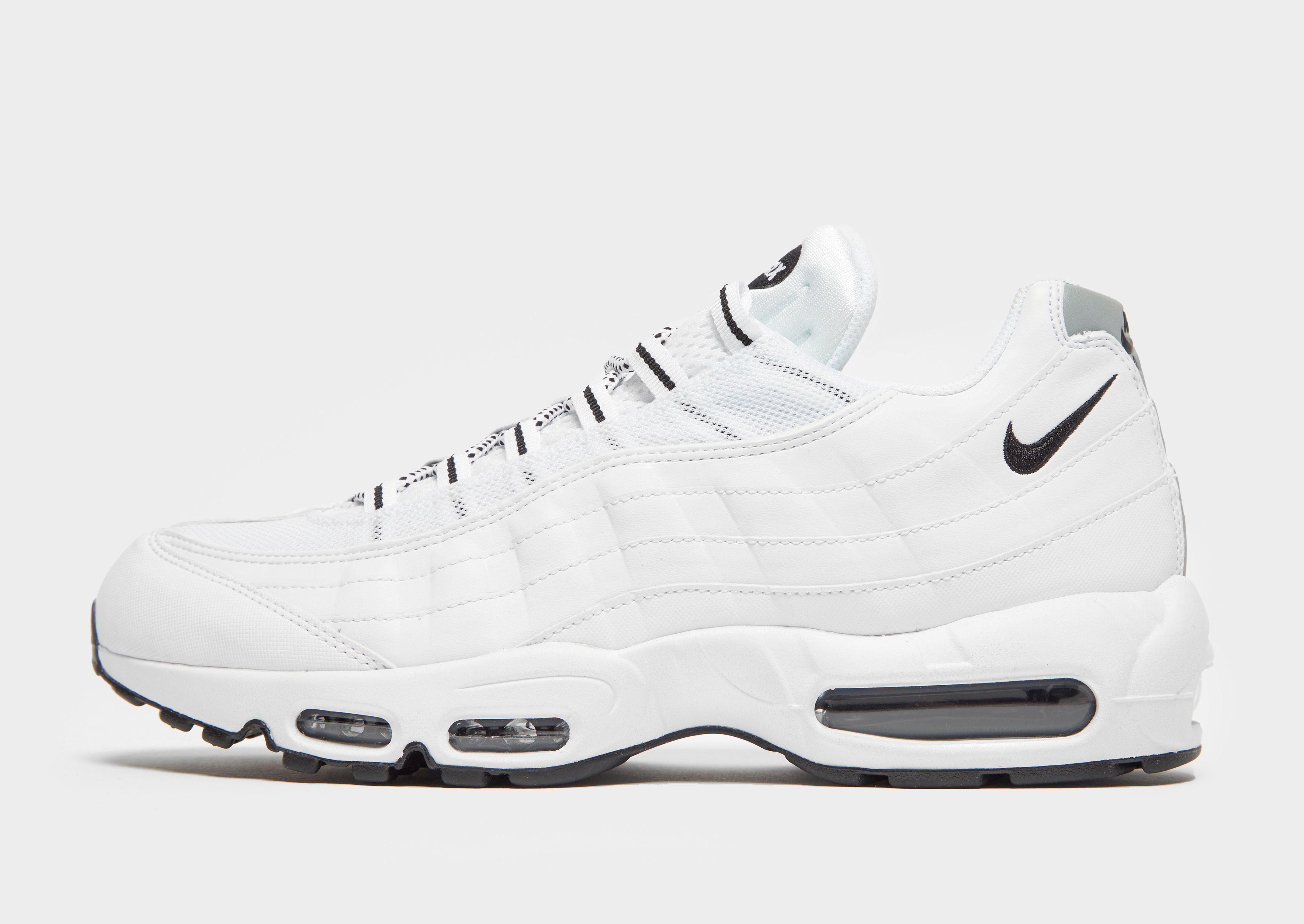 Nike Air Max 95 in 2020 | Nike air max white, White nike