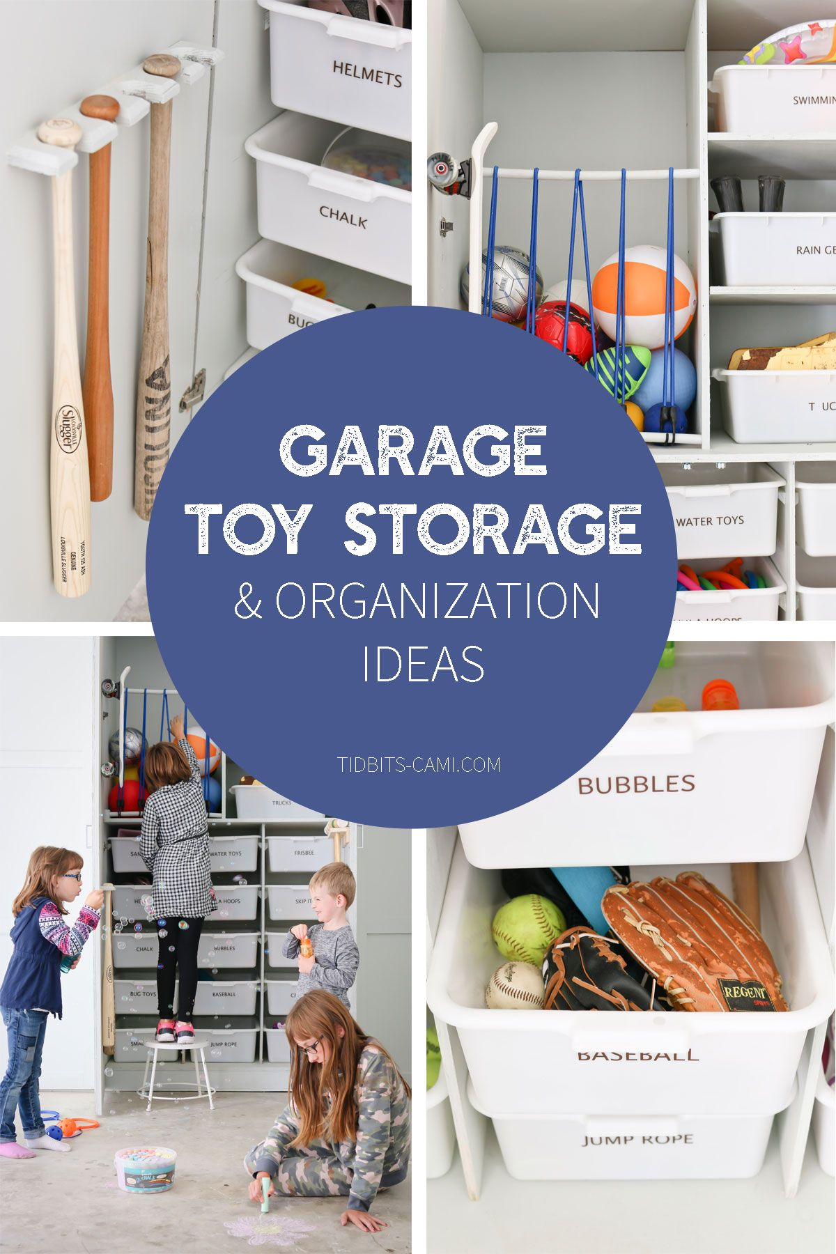 Garage Toy Storage And Organization Ideas Contain All Those Outdoor Toys With These Brilliant Camitidbits Garageorganization
