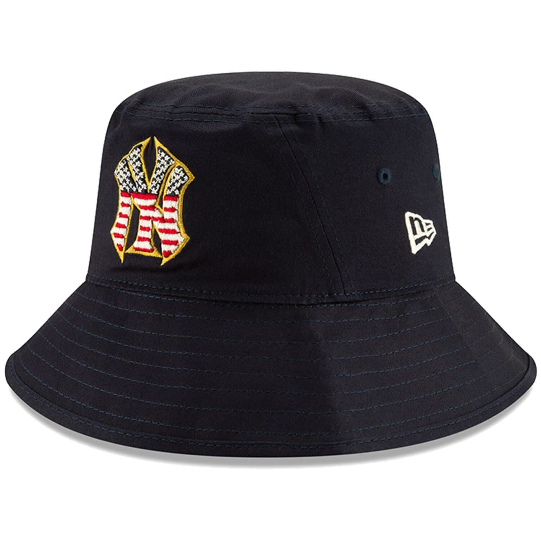Men S New Era Navy New York Yankees 2019 Stars Stripes 4th Of July Bucket Hat Affiliate York Sponsored Yan New Era New York Yankees Retro Vintage Style