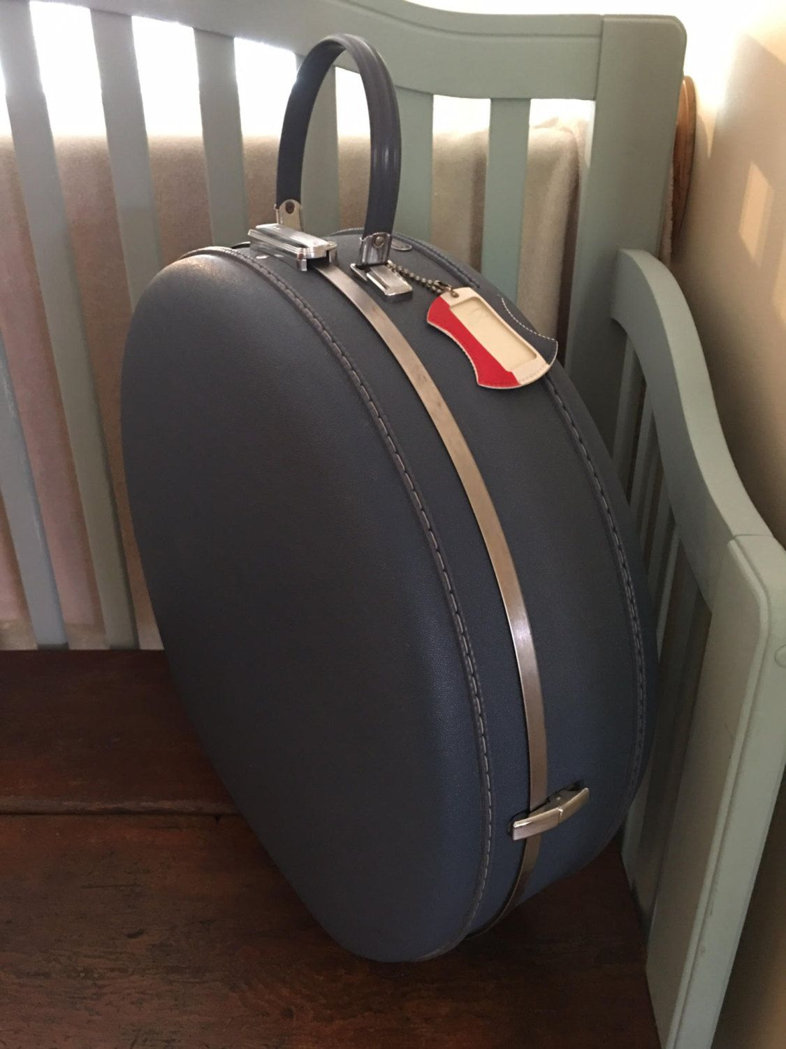 Vintage American Tourister Tiara 20 Round Blue Suitcase Circa 1960 S By Snotnew On Etsy Blue Suitcase Things To Sell American Vintage