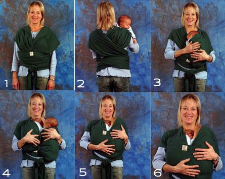 Moby Wrap Twins Upright Instruction Peppermint Baby Twins