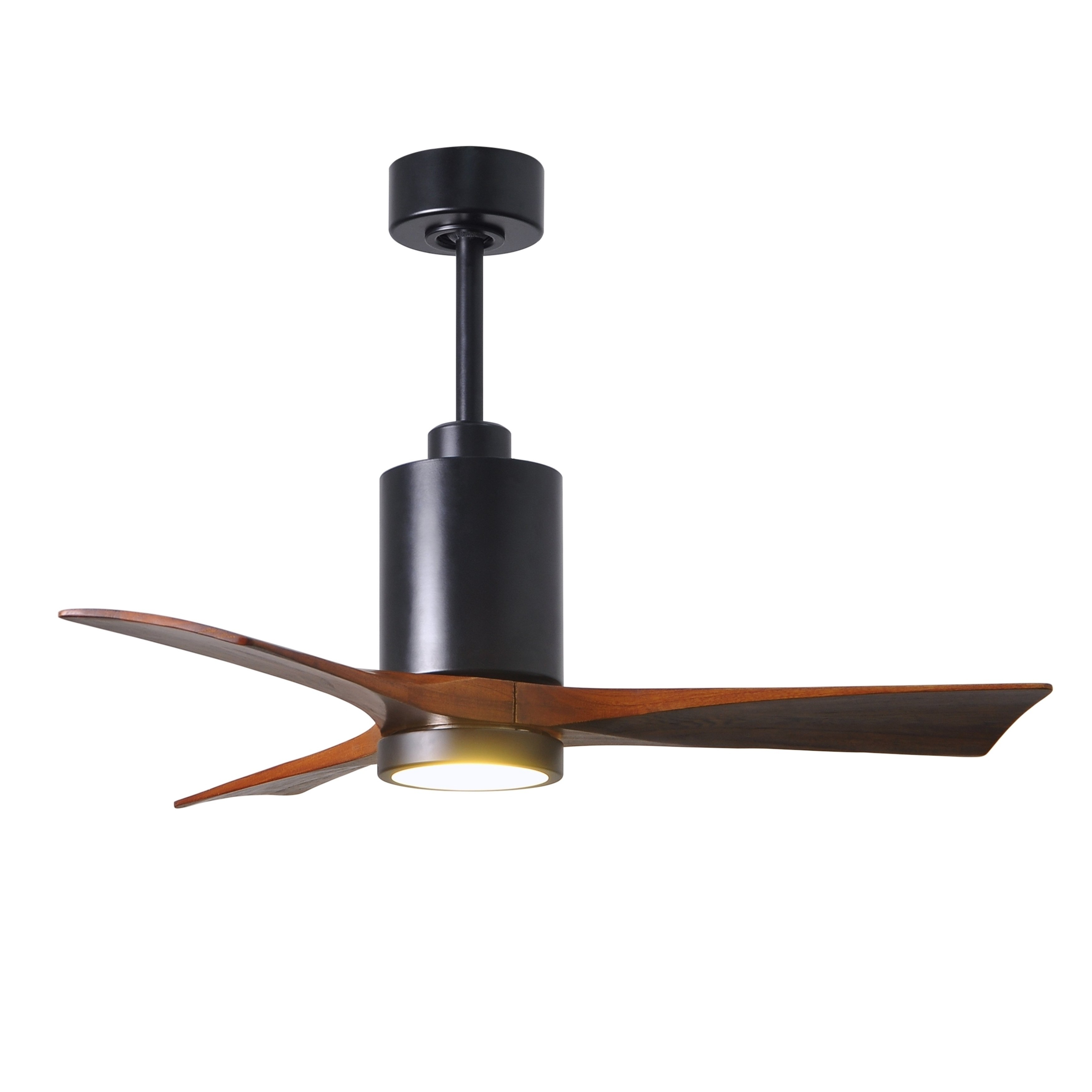 Patricia 3 Blade 42 Inch Matte Black Paddle Fan With Light Kit