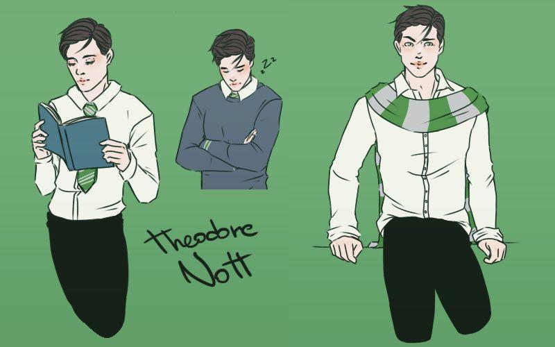 Fa Theodore Nott By Kaori Oc On Deviantart Harry Potter Oc Theodore Hogwarts Aesthetic