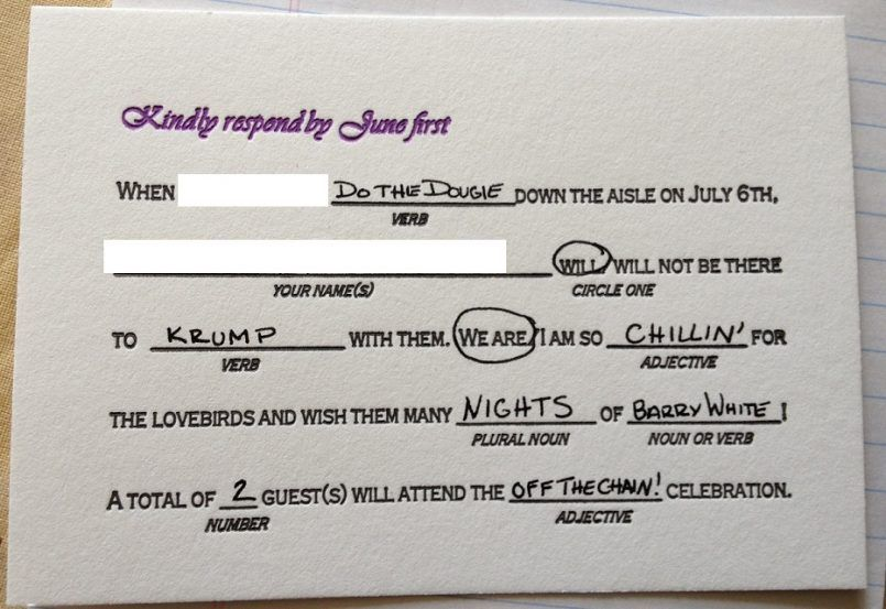 Friendship Funny Wedding Rsvp Card Ideas Together With Wording For Weddings Also Clever Cards