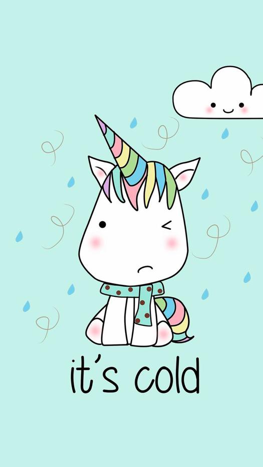 Unicorn iPhone Wallpaper Retro posterler
