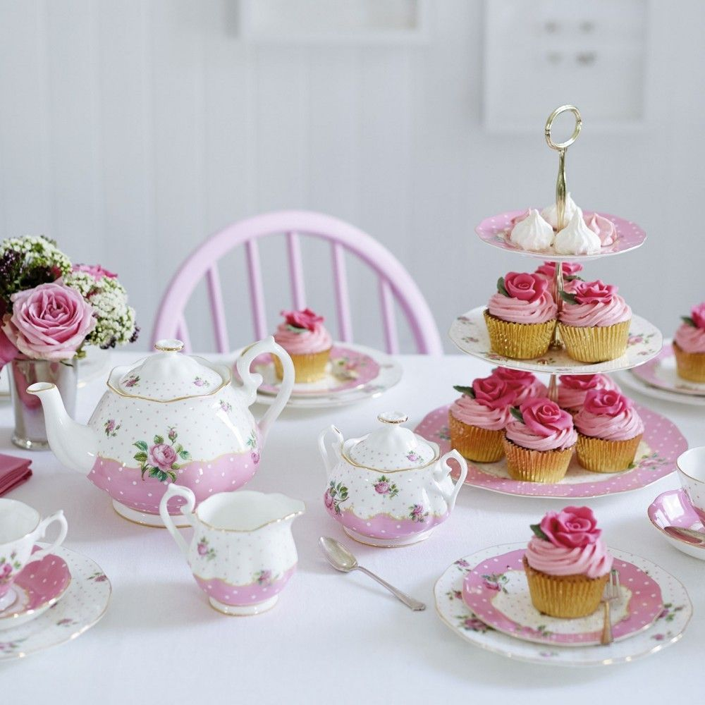 Cheeky pink vintage 3tier cake stand in 2020 happy tea