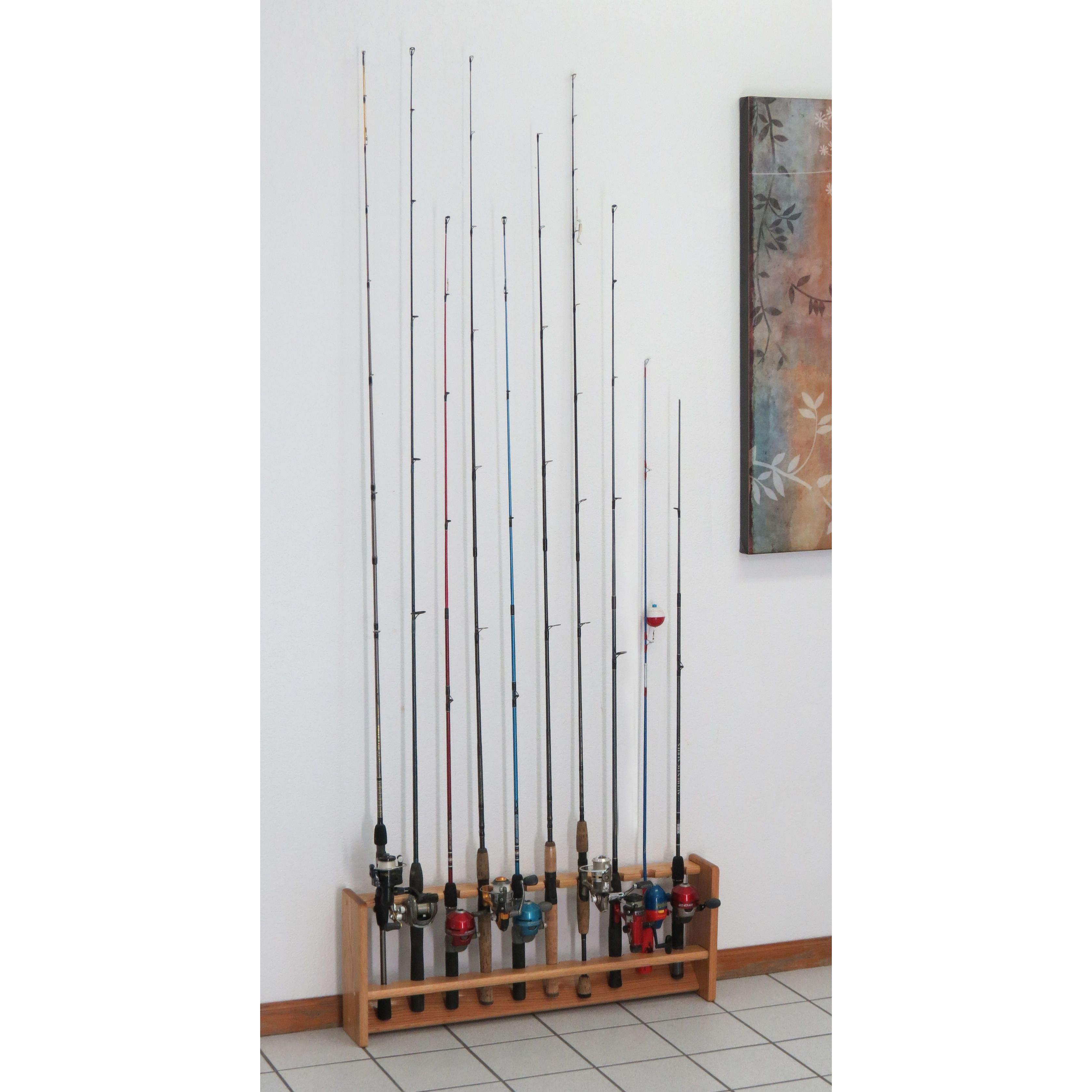 Fishing Rod Rack 10 Rods 4 Finish Options With Images Fishing Rod Rack Rod Rack Fishing Rod Holder