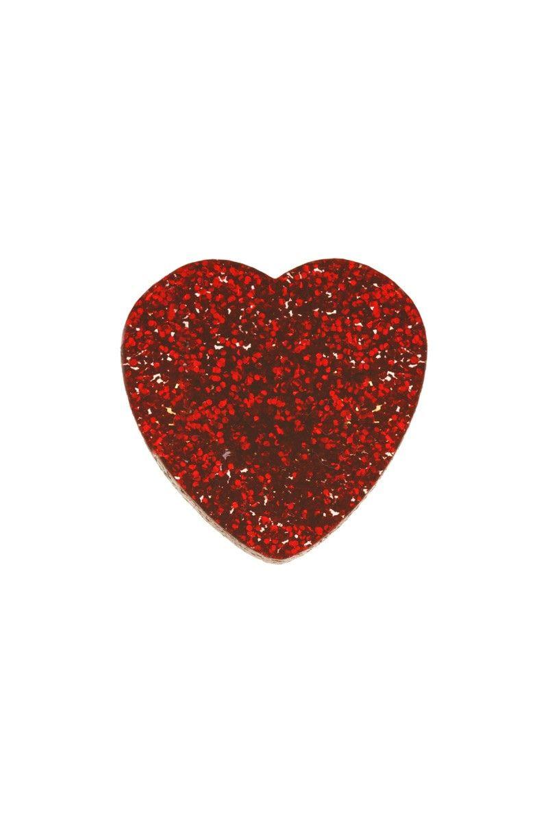 Glitter Heart Ring - Tatty Devine