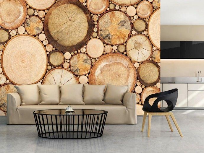 Papier peint moderne Grains de bois
