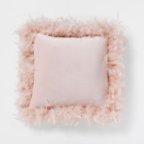 Zara Home Cuscini.Pink Cushion With Feathers Cushions Bedroom Zara Home Hong